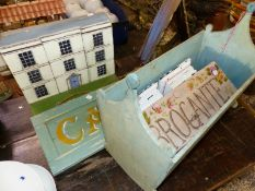 VINTAGE STYLE HANGING SIGNS ETC.
