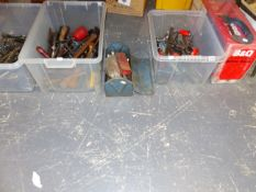 A MITRE SAW, SPANNERS, SCREW DRIVERS AND OTHER HAND TOOLS