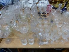 DRINKING GLASS, DECANTERS, VASES AND BOWLS