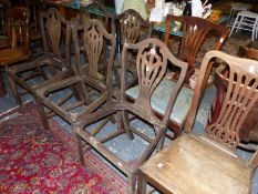 SEVEN 19TH CENTURY CHAIRS FOR RESTORATION (7)
