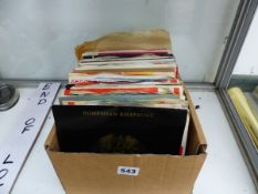 A COLLECTION OF 45RPM SINGLE RECORDS