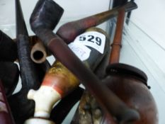 A COLLECTION OF BRIAR AND OTHER PIPES