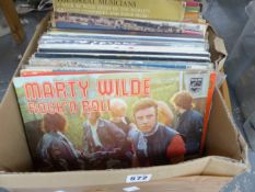 A QUANTITY OF ROCK AND CLASSICAL LP RECORDS TOGETHER WITH A 1987 PIRELLI CALENDAR