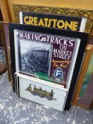 A QUANTITY OF VINTAGE RAILWAY RELATED PRINTS INC. A SIGNED LIMITED EDITION BY DAVID WESTON.