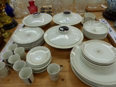 A DOULTON MORNING STAR PATTERN DINNER AND COFFEE SERVICE