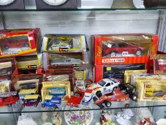 A COLLECTION OF BURAGO, LLEDO, MATCHBOX, CORGI AND OTHER DIE CAST TOYS