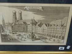 A GROUP OF DECORATIVE PRINTS INCLUDING GERMAN TOWN VIEWS., SCENES OF OXFORD, FRENCH VIEWS ETC
