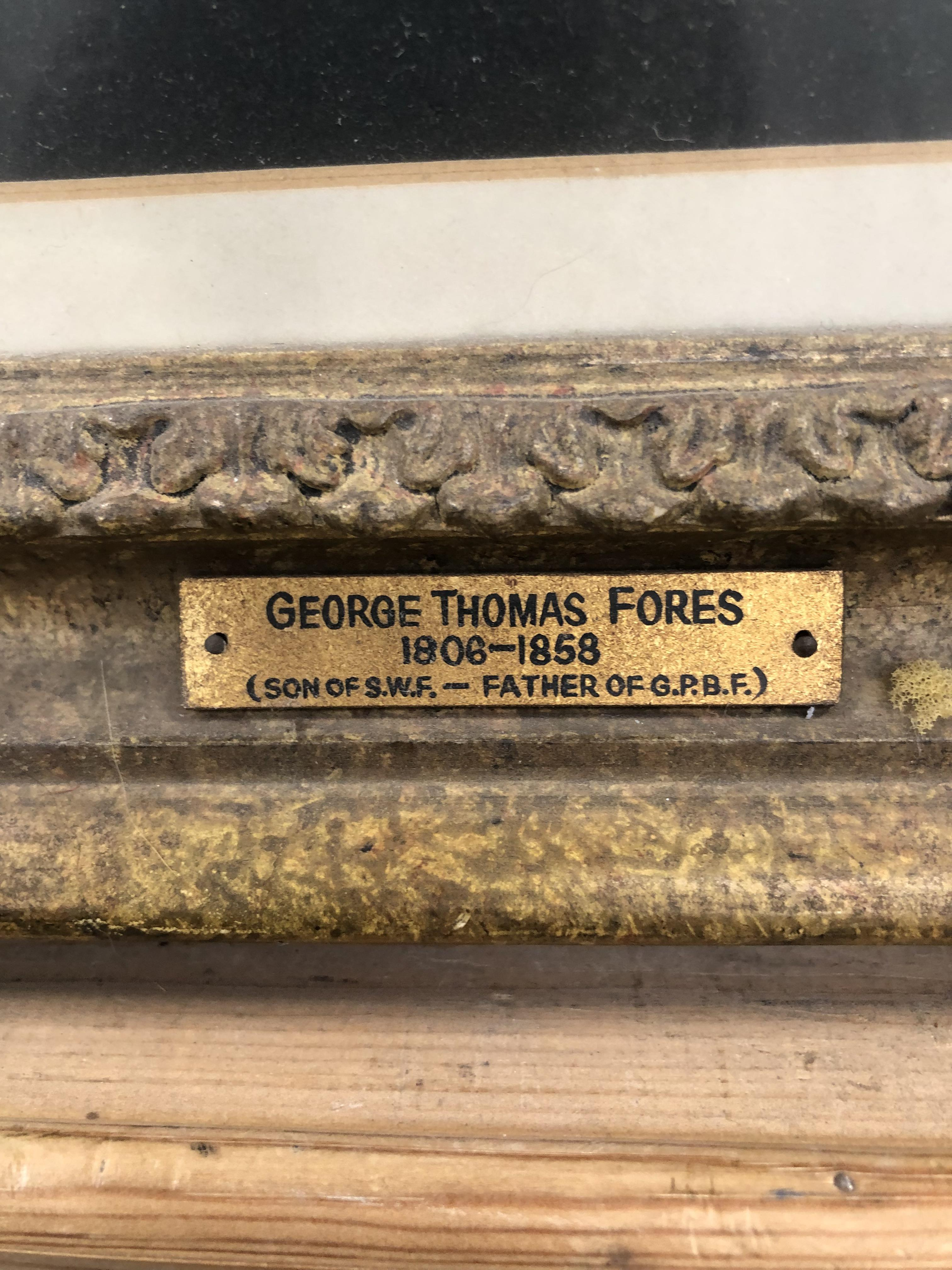 APPLETON? (19th CENTURY ENGLISH SCHOOL) PORTRAIT OF GEORGE THOMAS FORES 1808-1858. SIGNED AND - Image 5 of 5