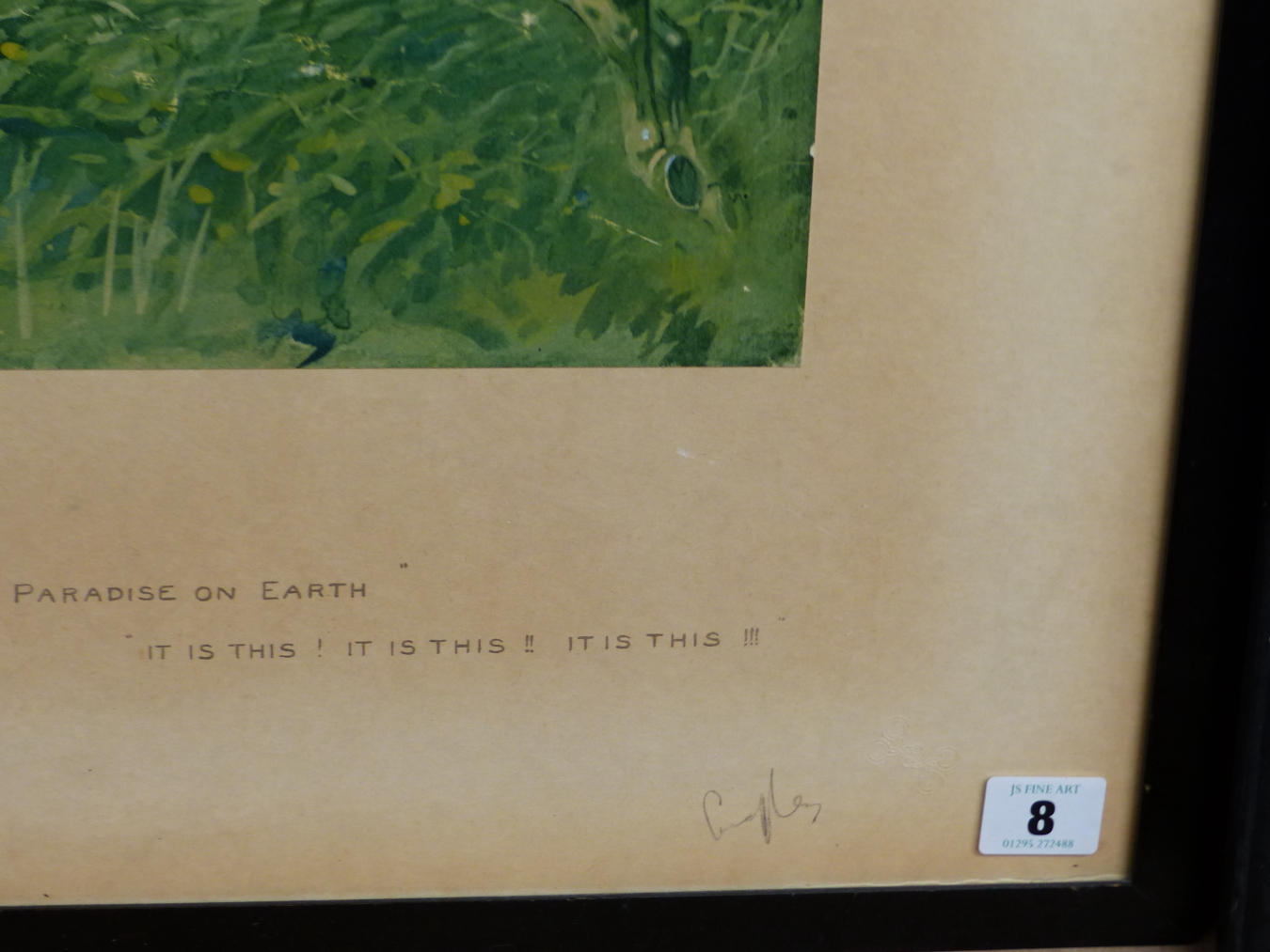 SNAFFLES, CHARLES JOHNSON PAYNE (1884-1967) IF THERE IS A PARADISE ON EARTH, IT IS THIS. PENCIL - Image 4 of 4