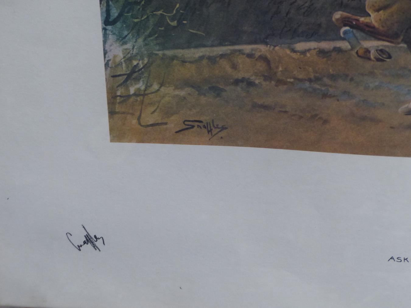 AFTER SNAFFLES, CHARLES JOHNSON PAYNE (1884-1967) SANDOWN.. COLOUR PRINT. 48 x 63.5cms - Image 3 of 6