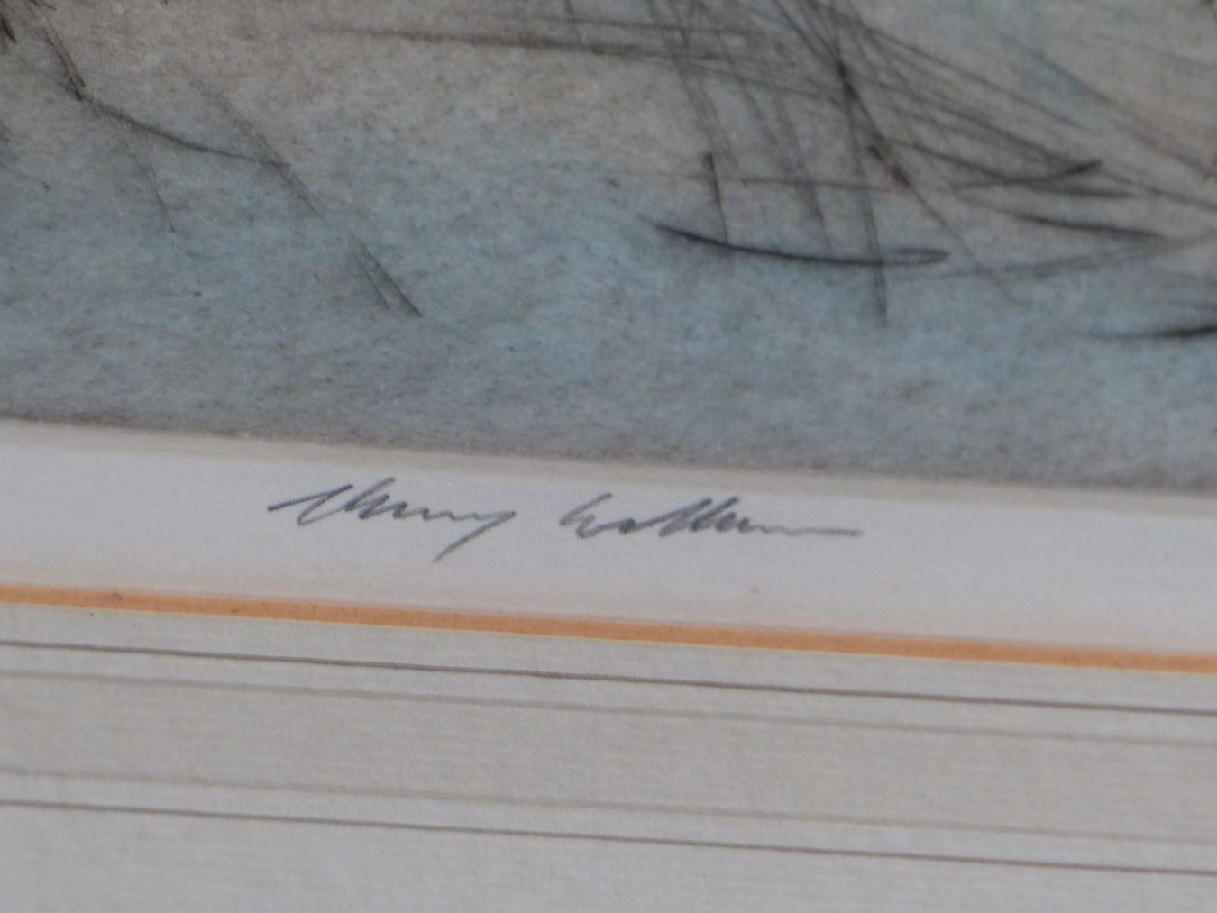 HENRY WILKINSON. THREE PENCIL SIGNED COLOUR ETCHINGS OF DOGS. TOGETHER WITH A PENCIL SIGNED - Image 3 of 7