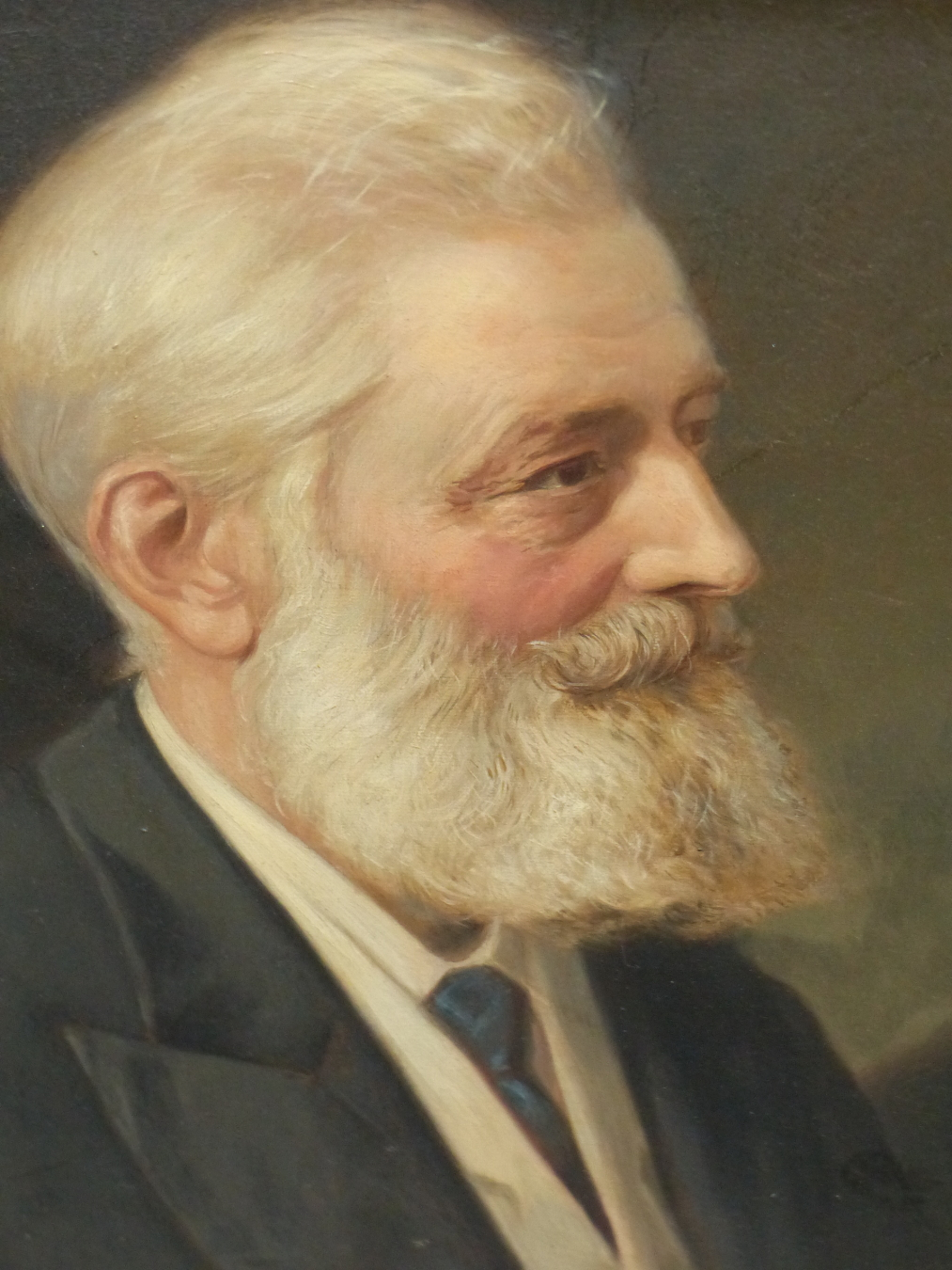 A, C. HAVELL (1855-1928) PORTRAIT OF GEORGE PHILIP BYRON FORES 1831-1916. SIGNED OIL ON CANVAS. 33 X