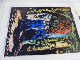 AN INTERESTING COLLECTION OF 20th CENTURY ARTIST SIGNED PRINTS INCLUDING WOODCUTS, ETCHINGS ETC.