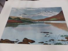 A COLLECTION OF COLOURED ETCHINGS OF ENGLISH LANDSCAPE VIEWS. ALL UNMOUNTED AND UNFRAMED. 38 x