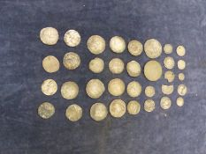 A GROUP OF EARLY ENGLISH SILVER COINAGE, INCLUDING ELIZABETH I AND OTHERS