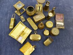 MINIATURE POSTAGE SCALES, MAGIC POCKET SAVINGS BANK, A VESTA, CASED SHAVER, A TRAVELLING INKWELL