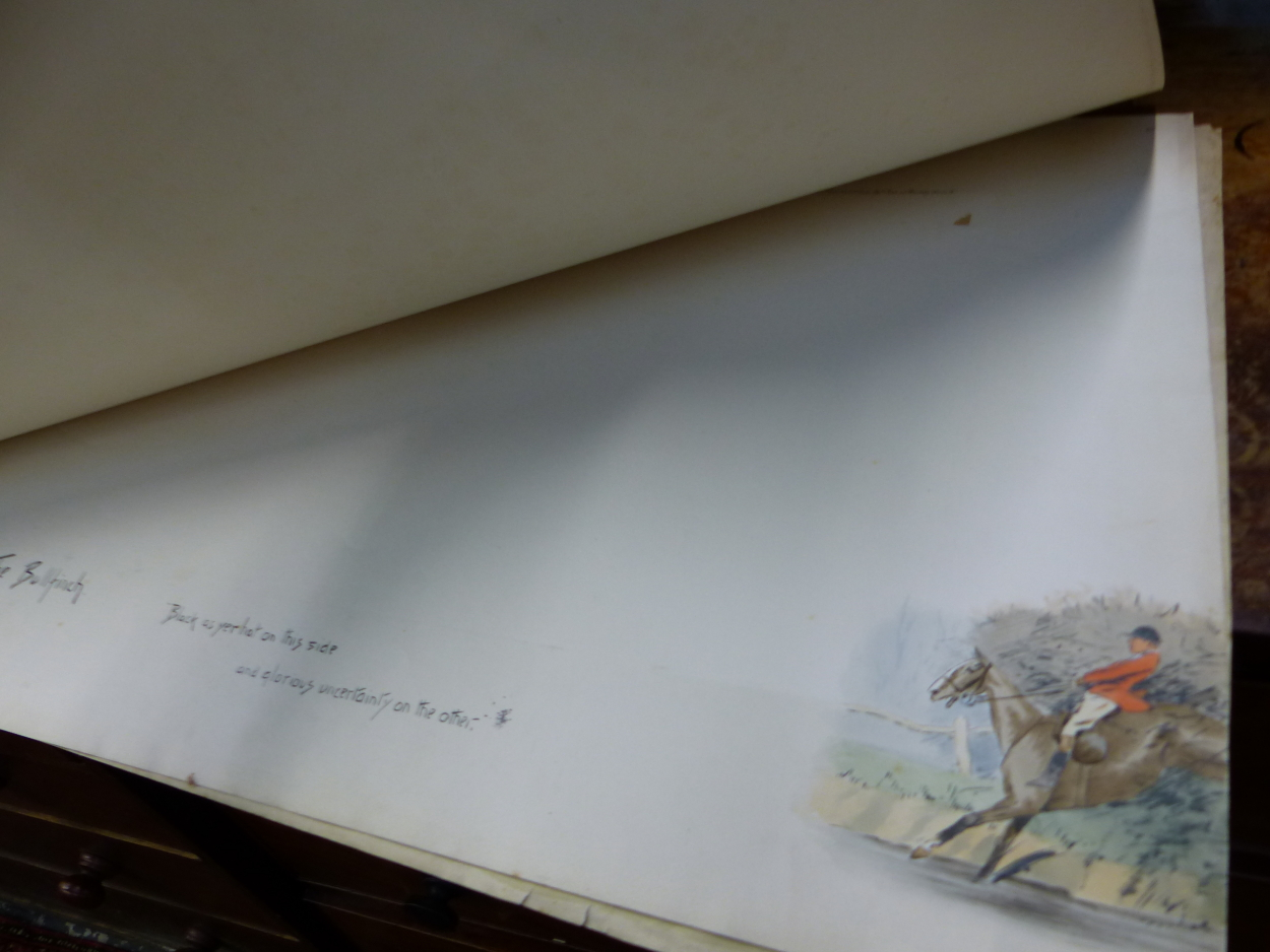"""FIVE PENCIL SIGNED SNAFFLES REMARQUE MOUNTS FOR THE IMAGE TITLES """"OH, TO BE IN IRELAND NOW THAT - Image 6 of 7"""
