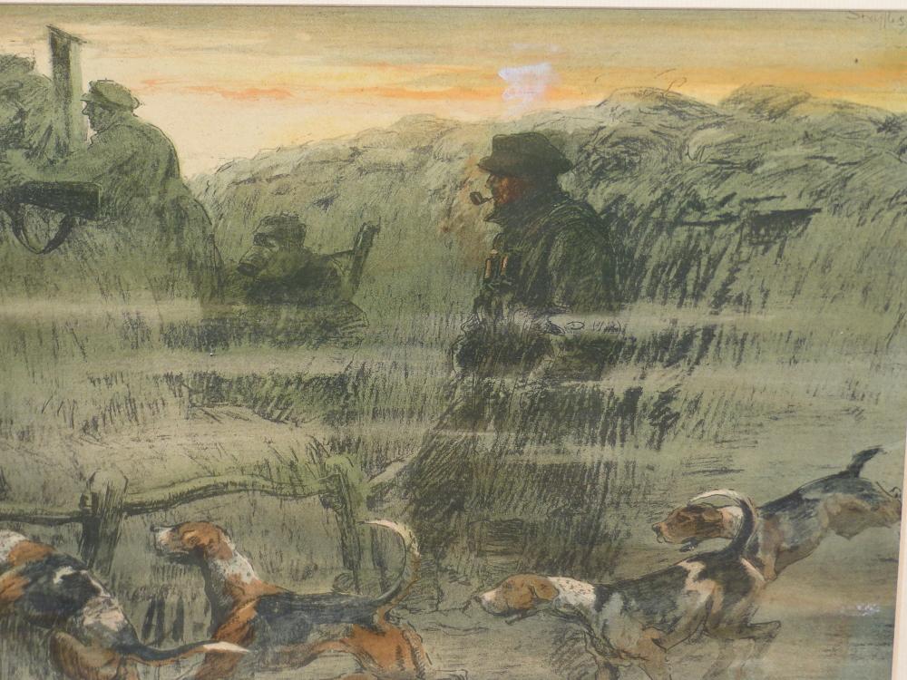 "SNAFFLES, CHARLES JOHNSON PAYNE (1884-1967) A PENCIL SIGNED COLOUR PRINT ""THAT FAR FAR AWAY ECHO""- - Image 7 of 10"