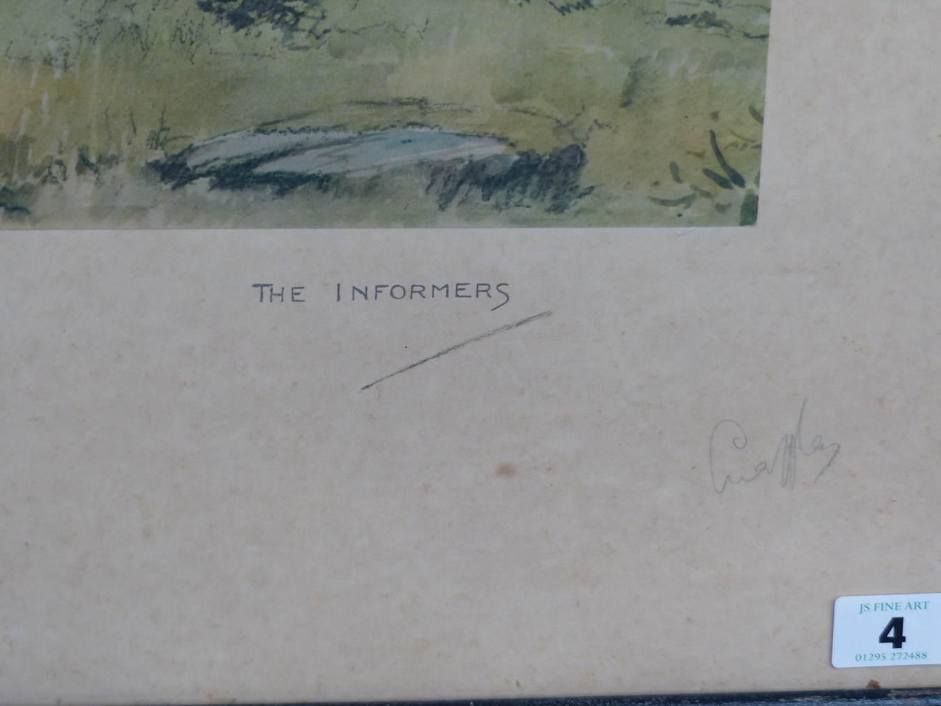 SNAFFLES, CHARLES JOHNSON PAYNE (1884-1967) THE INFORMERS. PENCIL SIGNED COLOUR PRINT. 46 x 56cms - Image 5 of 5