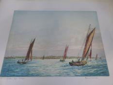 A GROUP OF ANTIQUE AND LATER PRINTS OF MARINE SUBJECTS. BY VARIOUS HANDS, SOME PENCIL SIGNED,