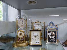 SIX MANTEL AND ANNIVERSARY CLOCKS