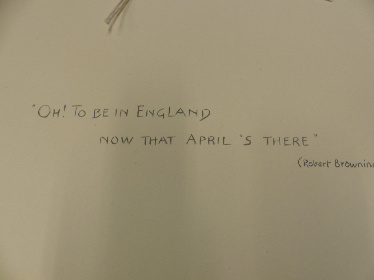 """FIFTEEN PENCIL SIGNED SNAFFLES REMARQUE MOUNTS FOR THE IMAGE TITLES """"OH TO BE IN ENGLAND, NOT THAT - Image 2 of 8"""