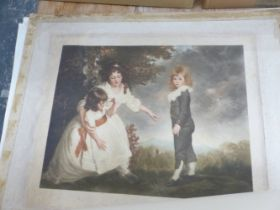 A COLLECTION OF VINTAGE AND LATER COLOUR PRINTS OF DECORATIVE 18th AND 19th CENTURY PORTRAITS,