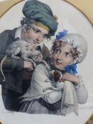 A LIMITED EDITION COLOUR SHOOTING PRINT BY HENRY WILKINSON, TOGETHER WITH A PAIR OF ANTIQUE SHOOTING