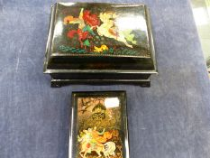TWO LACQUER EASTERN BOXES