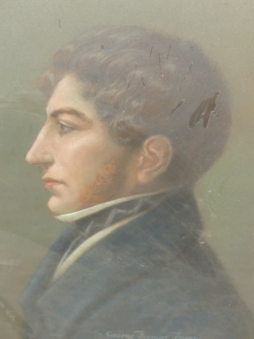 APPLETON? (19th CENTURY ENGLISH SCHOOL) PORTRAIT OF GEORGE THOMAS FORES 1808-1858. SIGNED AND