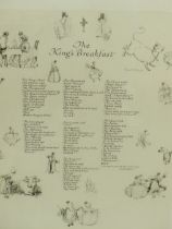 AFTER ERNEST H. SHEPHARD. FOUR LIMITED EDITION PRINTS. THE KINGS BREAKFAST, LINES AND SQUARES,