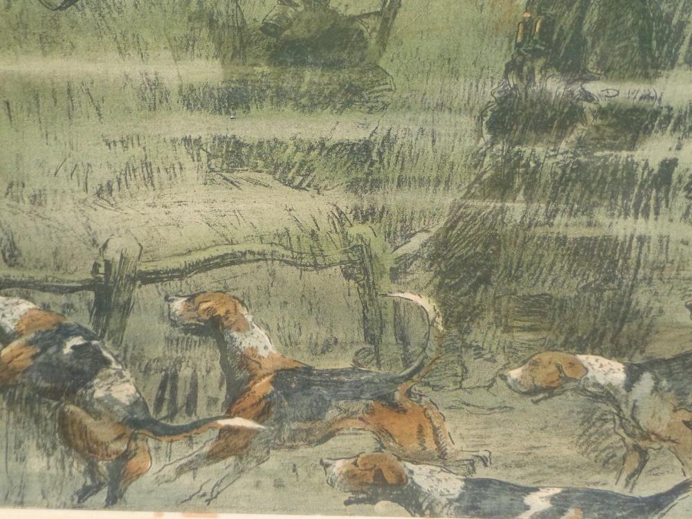 "SNAFFLES, CHARLES JOHNSON PAYNE (1884-1967) A PENCIL SIGNED COLOUR PRINT ""THAT FAR FAR AWAY ECHO""- - Image 6 of 10"