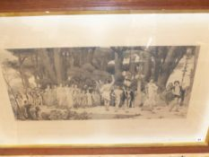 """AFTER FREDERICK LEIGHTON AN ANTIQUE LARGE FOLIO PRINT """"THE DAPHNEPORIA"""" 58 x 98cms TOGETHER WITH"""