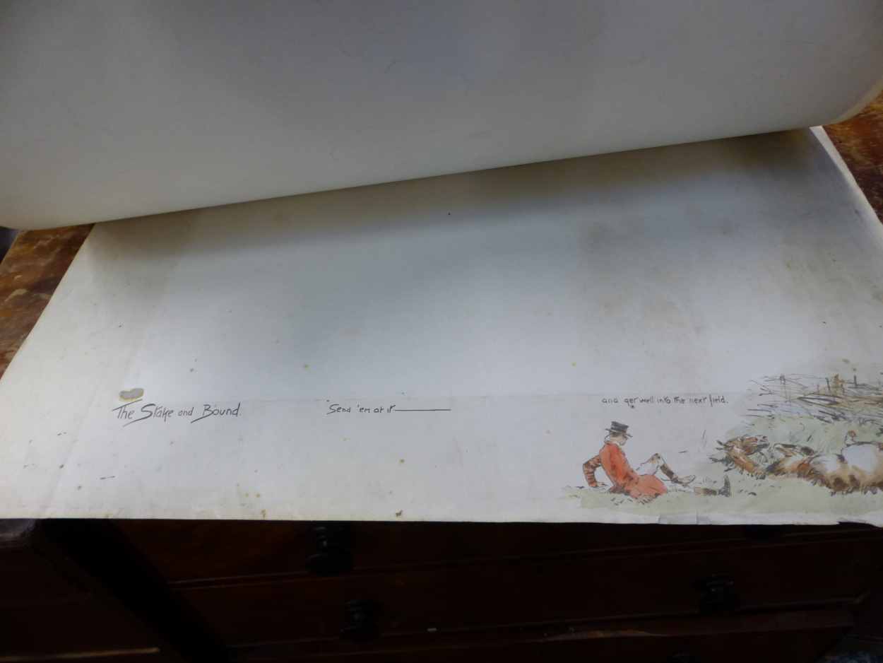 """FIVE PENCIL SIGNED SNAFFLES REMARQUE MOUNTS FOR THE IMAGE TITLES """"OH, TO BE IN IRELAND NOW THAT - Image 7 of 7"""