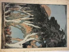 MOKUCHU URUSHIBARA (1888-1953), THREE PENCIL SIGNED WOODBLOCK PRINTS TO INCLUDE TWO ALSO SIGNED BY
