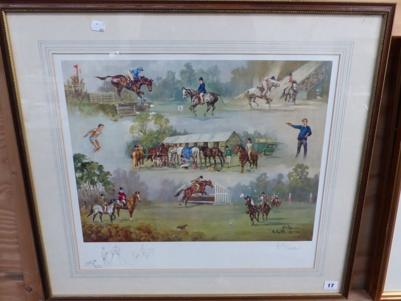 AFTER JOHN KING, THE PONY CLUB. SIGNED ARTISTS PROOF COLOUR PRINT. 48 x 53.5cms - Image 4 of 5