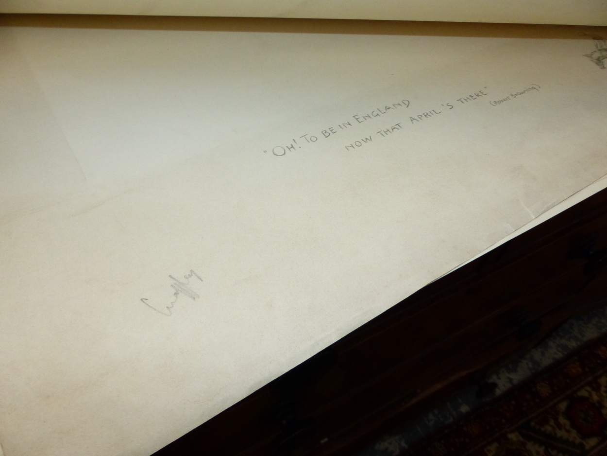"""FIFTEEN PENCIL SIGNED SNAFFLES REMARQUE MOUNTS FOR THE IMAGE TITLES """"OH TO BE IN ENGLAND, NOT THAT - Image 6 of 8"""
