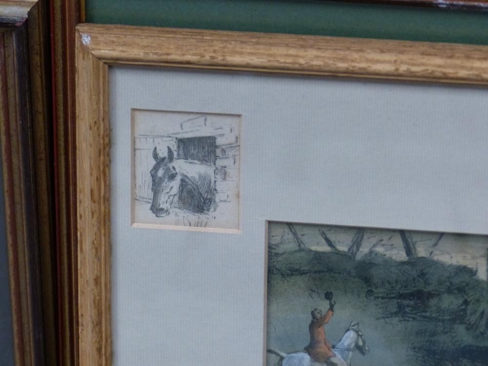"SNAFFLES, CHARLES JOHNSON PAYNE (1884-1967) A PENCIL SIGNED COLOUR PRINT ""THAT FAR FAR AWAY ECHO""- - Image 3 of 10"