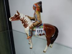 A BESWICK FIGURINE INDIAN ON HORSE BACK