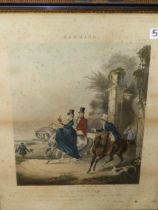 AFTER F.C TURNER FOUR ANTIQUE HAND COLOURED HAWKING PRINTS 55 x 42cms (4)