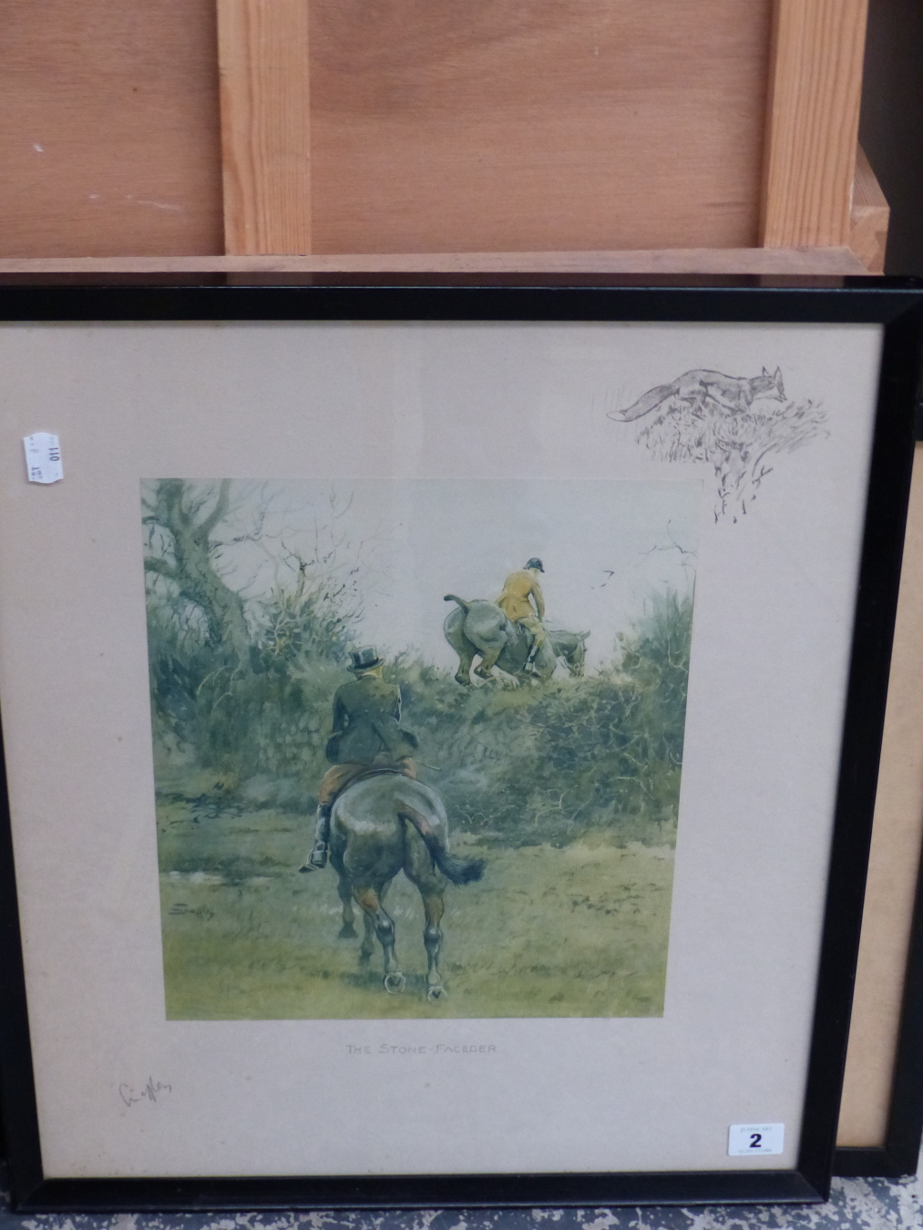 SNAFFLES, CHARLES JOHNSON PAYNE (1884-1967) A PENCIL SIGNED COLOUR PRINT. THE STONE-FACEDER, 51 x - Image 2 of 3