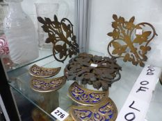 ENAMEL AND BRASS INSERTS AND METAL APPLIQUES