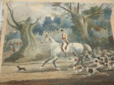 A GROUP OF ANTIQUE AND LATER UNFRAMED HORSE AND HUNT PRINTS, SOME HAND COLOURED BY AND AFTER VARIOUS