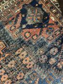 AN ANTIQUE PERSIAN AFSHAR RUG, 180 x 126cms