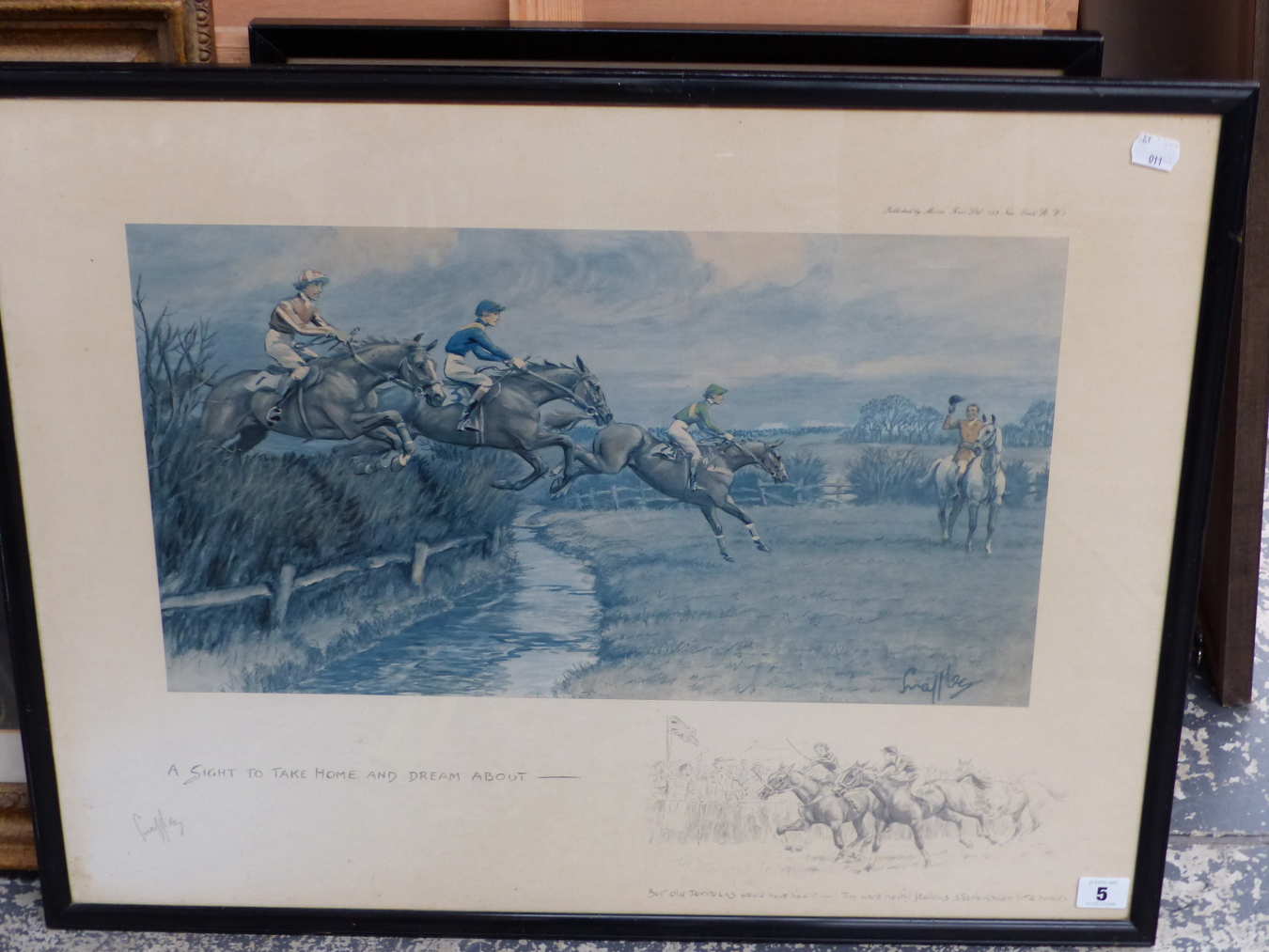 SNAFFLES, CHARLES JOHNSON PAYNE (1884-1967) A SIGHT TO TAKE HOME AND DREAM ABOUT. PENCIL SIGNED - Image 2 of 4
