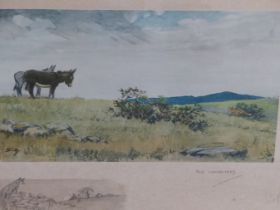 SNAFFLES, CHARLES JOHNSON PAYNE (1884-1967) THE INFORMERS. PENCIL SIGNED COLOUR PRINT. 46 x 56cms