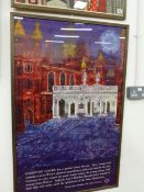 TWO TRAVEL POSTERS ADVERTISING HAMPTON COURT PALACE, ONE AFTER DAVID LEWIS 101 x 63cms (2)