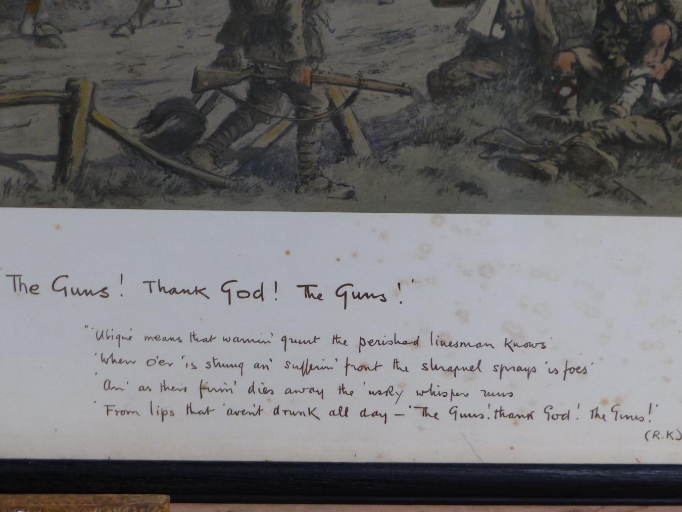 SNAFFLES, CHARLES JOHNSON PAYNE (1884-1967) THE GUNS, THANK GOD, THE GUNS!. COLOUR PRINT. 47 x - Image 4 of 4