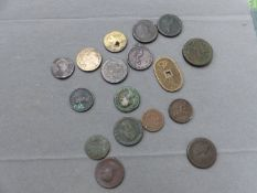 A SMALL COLLECTION OF GEORGIAN AND LATER COPPER COINS