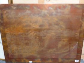 AN INTERESTING ORIGINAL COPPER PRINTING PLATE FOR THE OXFORD AND CAMBRIDGE BOAT RACE. 53.5 x 67cms